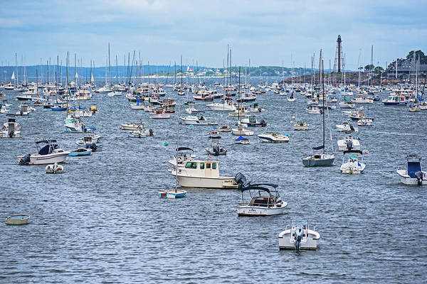 Photograph - A Full House At Marblehead Harbor Marblehead Ma by Toby McGuire