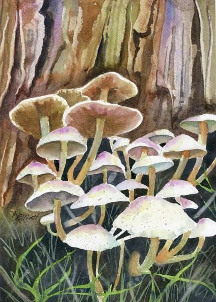 Biology Painting - A Fungus Amongus by Marsha Elliott