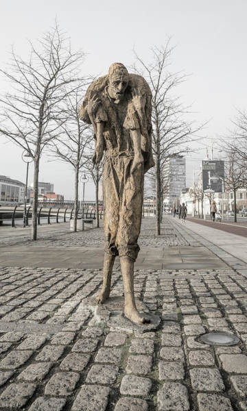 Starving Photograph - A Future History The Famine Sculpture by Betsy Knapp