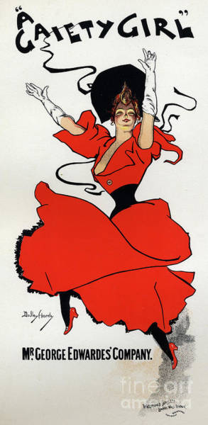 Wall Art - Painting - A Gaiety Girl  Vintage Poster by Dudley Hardy