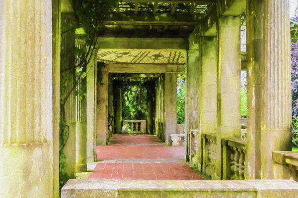A Garden House Entryway. Art Print