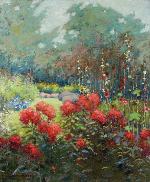 Wall Art - Painting - A Garden In September by Mary Ryder