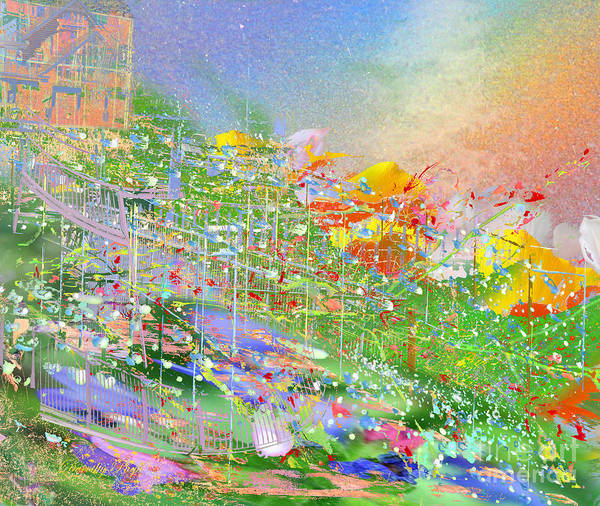 Digital Art - A Garden On A Hill by Dorothy  Pugh