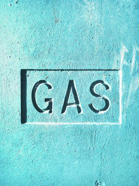 Wall Art - Photograph - A Gas Sign by Tom Gowanlock