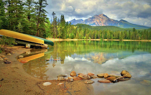 Photograph - A Gentle Light At Lake Annette by Tara Turner