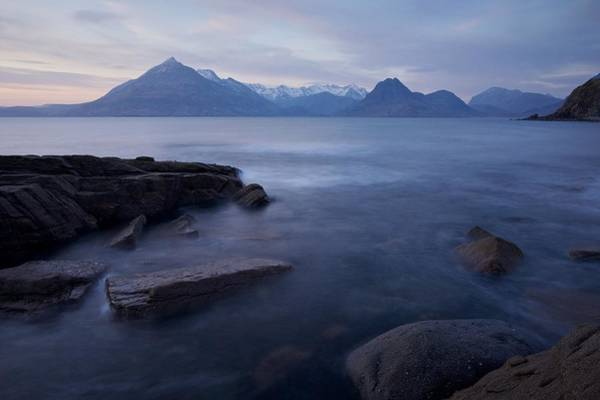 Photograph - A Gentle Sunset At Elgol  by Stephen Taylor