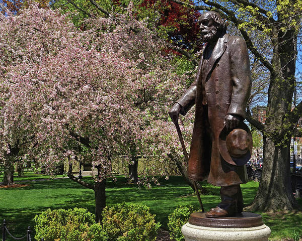 Photograph - A Gentleman Walking The Public Garden On A Beautiful Spring Day Boston Ma Edward Everett Hale by Toby McGuire