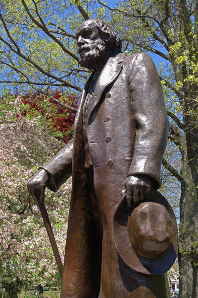 Photograph - A Gentleman Walking The Public Garden On A Beautiful Spring Day Boston Ma by Toby McGuire