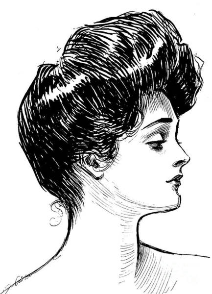 Wall Art - Drawing - A Gibson Girl, 1902 Litho by Charles Dana Gibson