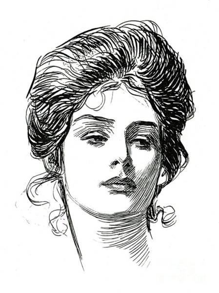 Wall Art - Drawing - A Gibson Girl, C 1902 by Charles Dana Gibson