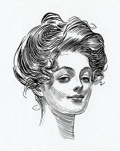 Wall Art - Drawing - A Gibson Girl by Charles Dana Gibson