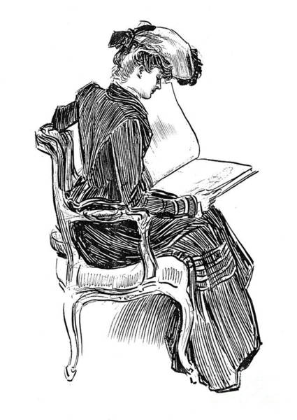 Wall Art - Drawing - A Gibson Girl, Circa 1902 by Charles Dana Gibson