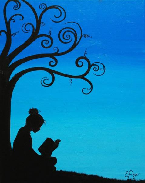 Painting - A Girl And Her Book by Emily Page