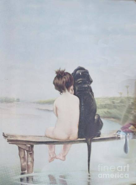 Labrador Painting - Bathing Beauties By Bruno Piglhein by Priscilla Wolfe
