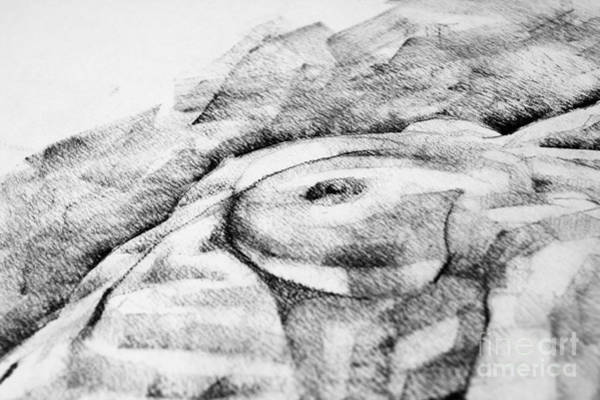 Drawing - A Girl Poses Breast Close Up Art Drawing by Dimitar Hristov