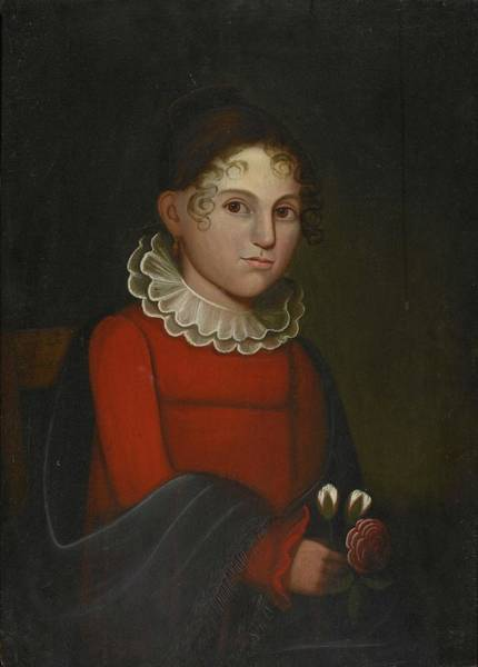 1781 Painting -  A Girl Wearing by Zedkiah Belknap