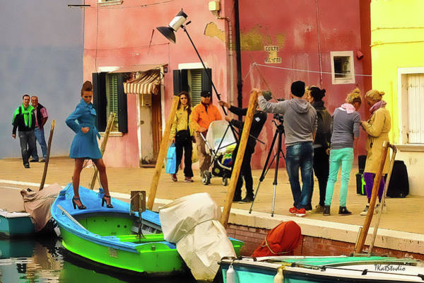 Photograph - A Glamour Shoot In Burano by Tim Kathka