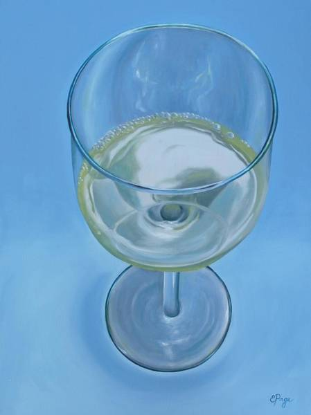 Painting - A Glass Of Wine Is Fine by Emily Page