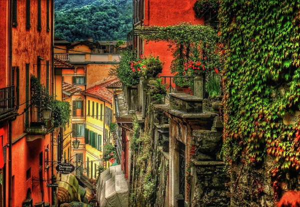 Sienna Photograph - A Glimpse Of Bellagio by Connie Handscomb