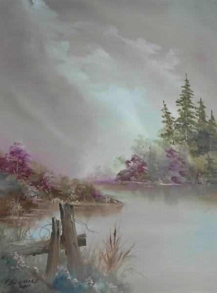 Fencepost Painting - A Glimpse Of Peace   # 90 by Frederick  Skidmore