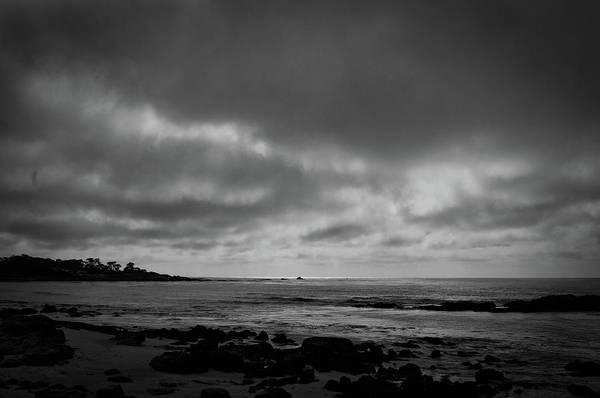 Pebble Beach Golf Course Photograph - A Gloomy Day by Venura Herath