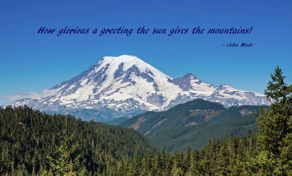 Photograph - A Glorious Mountain by John M Bailey