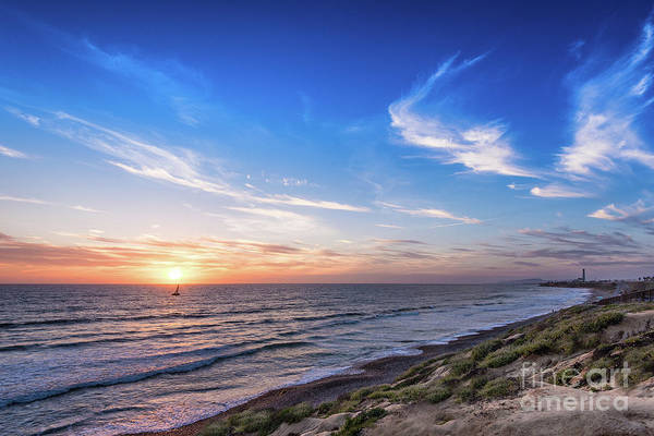 Photograph - A Glorious Sunset At North Ponto, Carlsbad State Beach by David Levin