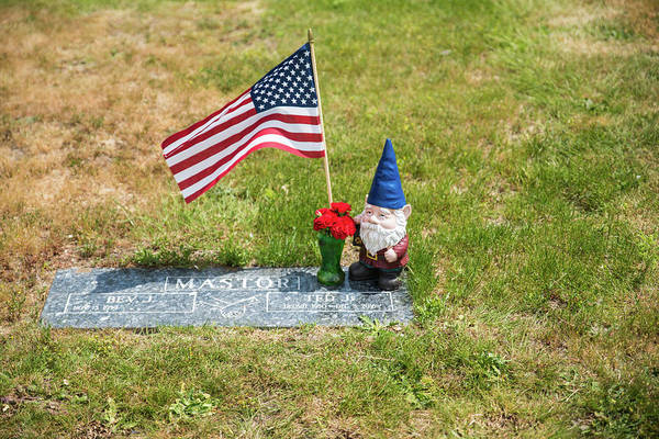 Photograph - A Gnome Keeps Watch by Tom Cochran