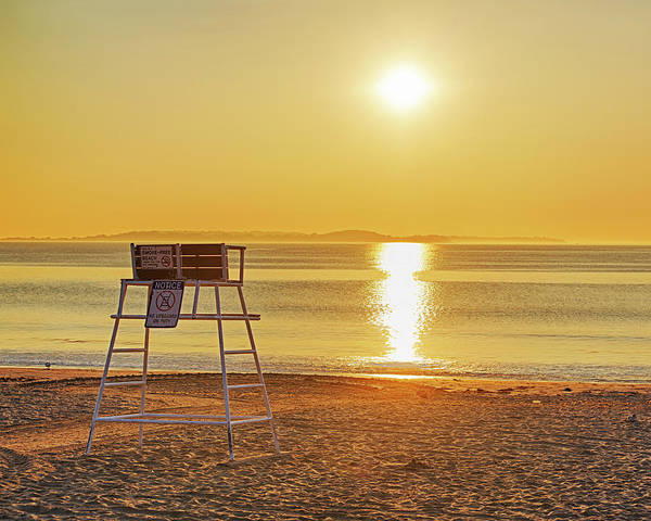 Photograph - A Golden Glow Over Revere Beach Revere Ma by Toby McGuire