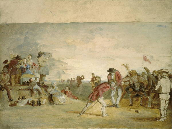 Country Club Painting - A Golf Match by Charles Lees