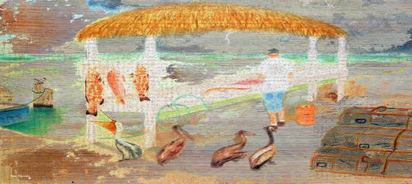 Mangroves Digital Art - A Good Day Of Fishing On Wood by Ken Figurski