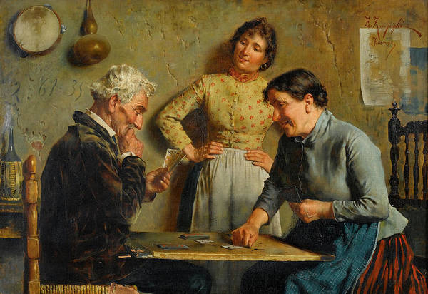 Rural Life Wall Art - Painting - A Good Hand by Eugenio Zampighi