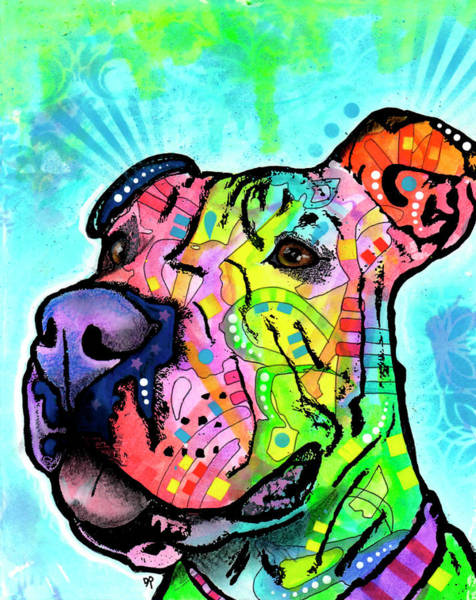 Mutt Painting - A Good Listener by Dean Russo Art