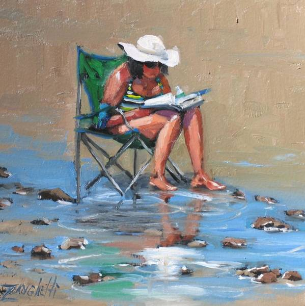Woman Reading Wall Art - Painting - A Good Read by Laura Lee Zanghetti