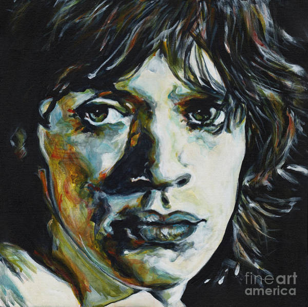 Painting - Almost Hear Your Sigh. Mick Jagger by Tanya Filichkin