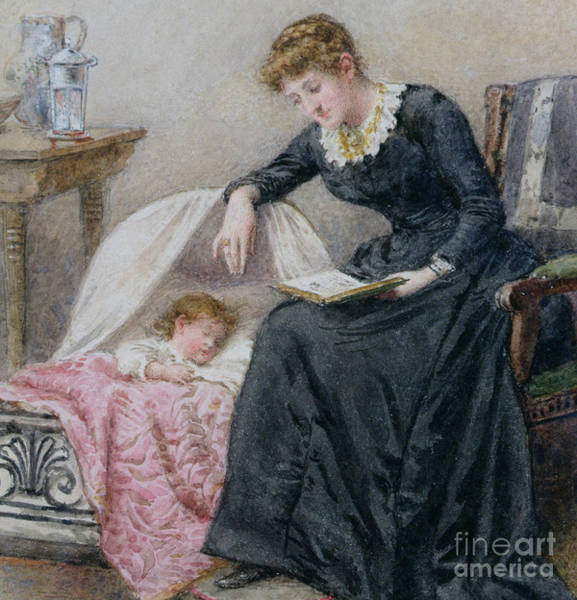 Painting - A Goodnight Story  by George Goodwin Kilburne