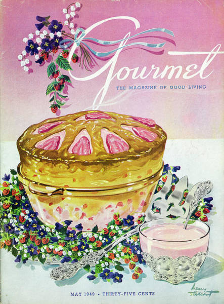 Bowl Photograph - A Gourmet Cover Of A Souffle by Henry Stahlhut