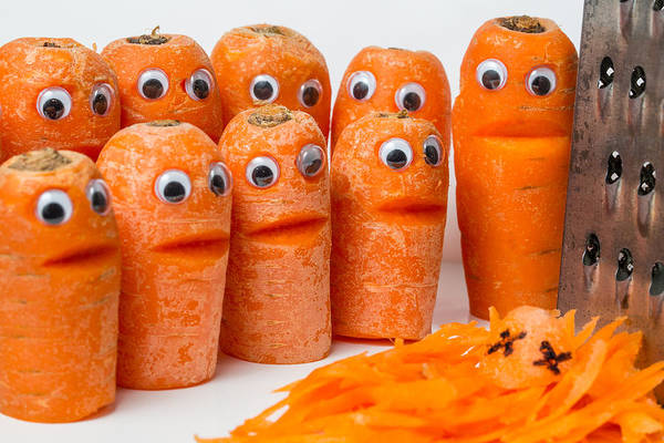 Photograph - A Grate Carrot 2. by Gary Gillette