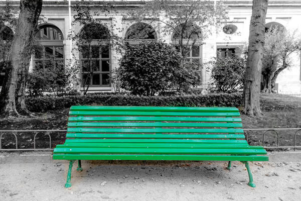 Wall Art - Photograph - A Green Bench In Madrid by W Chris Fooshee