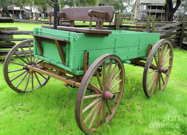 Photograph - A Green Wagon by D Hackett