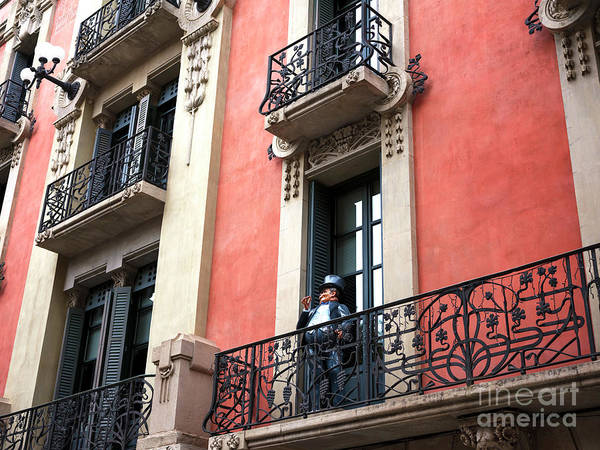 Greeters Photograph - A Greeter On The Balcony by John Rizzuto