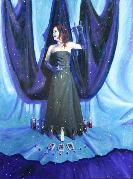 Wiccan Painting - A Ha by Shelley Irish