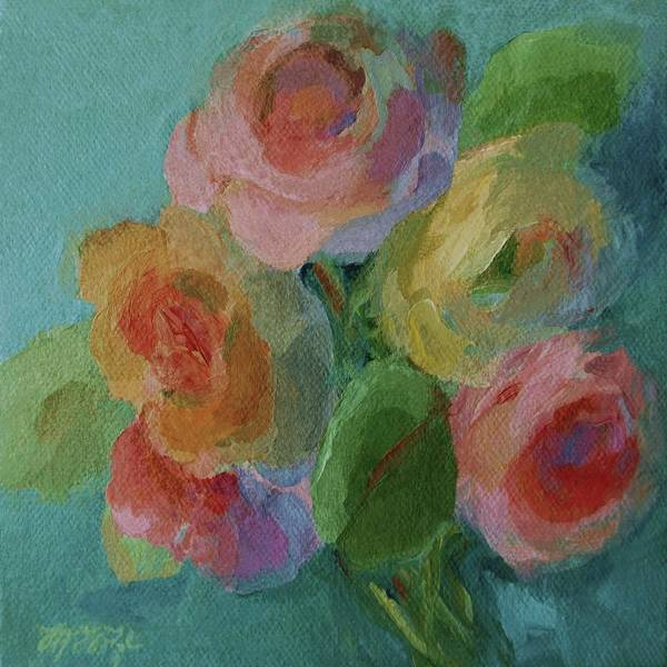 Painting - A Handful Of Roses by Mary Wolf