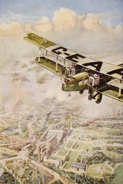 Vintage Airplane Drawing - A Handley Page Machine Of The by Vintage Design Pics