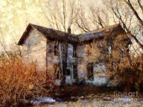 Poconos Wall Art - Photograph - A Haunting Melody - Old Farmhouse by Janine Riley