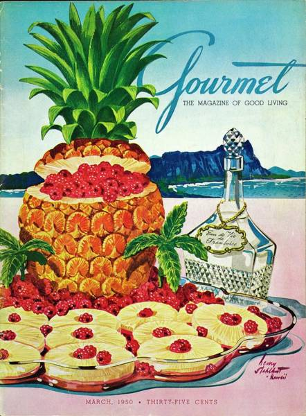 Fruits Photograph - A Hawaiian Scene With Pineapple Slices by Henry Stahlhut
