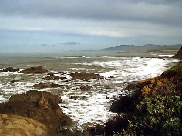 Photograph - A Hazy Day In San Simeon Bay by Barbara Snyder