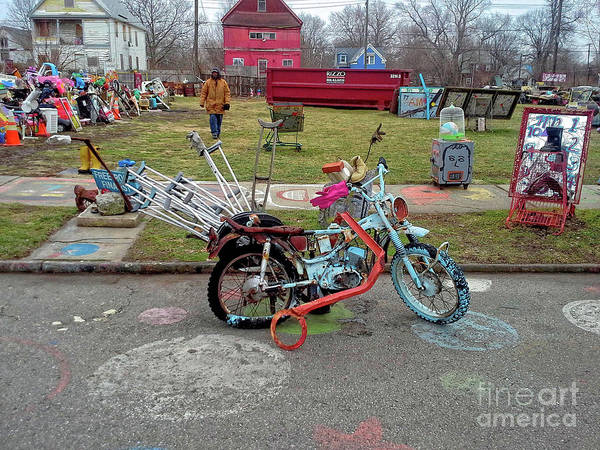 Digital Art - A Heidelberg Bike by Walter Neal