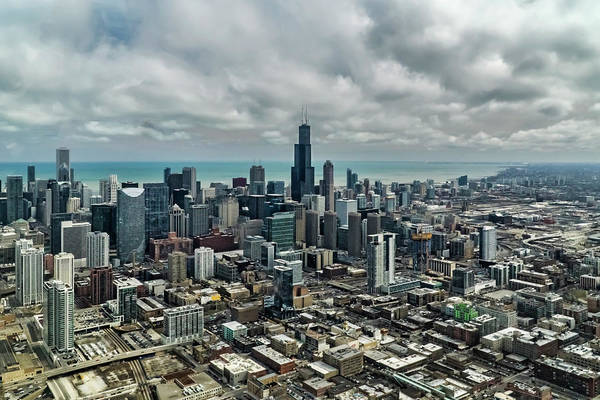 Photograph - A Helicopter Perspective Of Chicago by Sven Brogren