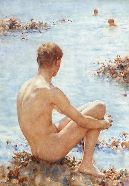 Painting - A Holiday  by Henry Scott Tuke